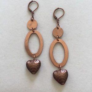 Distressed Copper earrings, Handmade and N…